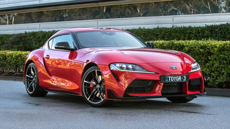 2019 Toyota GR Supra GTS Monza Red.