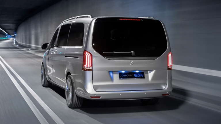 Weltpremiere Concept EQV: Concept EQV: Mercedes-Benz zeigt Ausblick auf die elektrische Zukunft der Premium-Großraumlimousine  World premiere of the Concept EQV: Concept EQV: Mercedes-Benz is providing an insight into the electric future of the premium MP