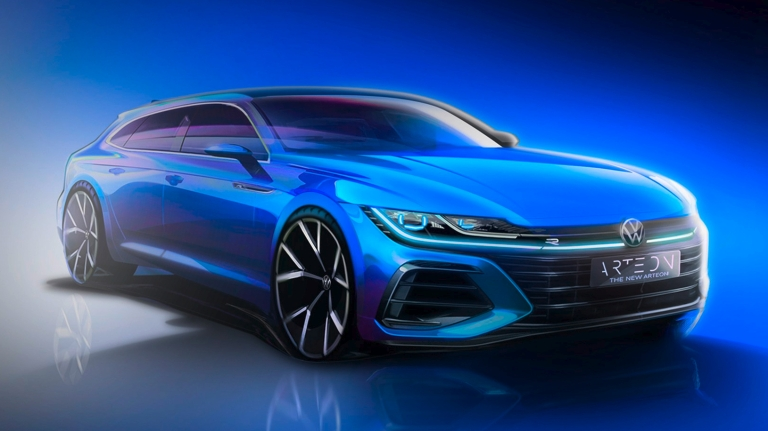 First preview towards the new Arteon Shooting Brake (left) and t